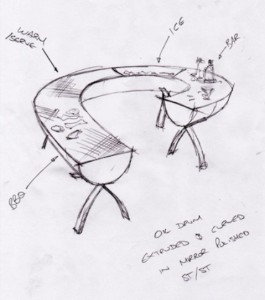 Concept of the kitchen design that turns into art