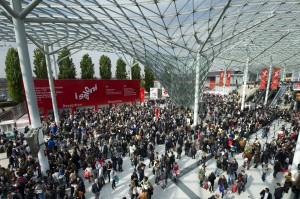 The eastern entrance to the Fiera Milano, during Eurocucina (i Saloni)